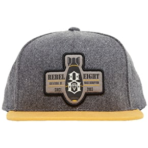 Rebel8 Mass Disruption Snapback Cap - Grey