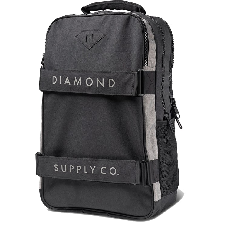 Diamond Stone Cut Skate Backpack - Black