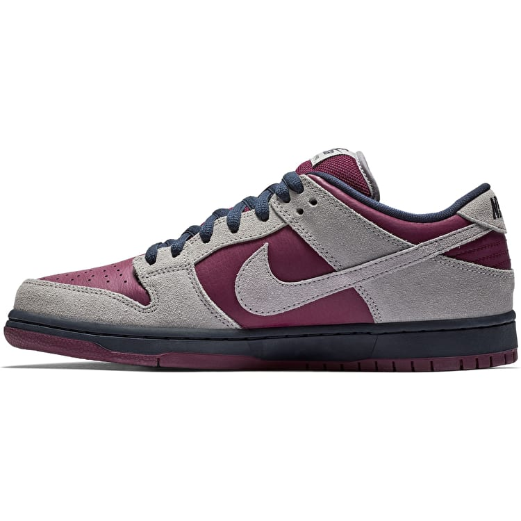 Nike SB Dunk Low Pro Skate Shoes - Atmosphere Grey-True Berry