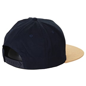 Hype Crest Snapback Cap - Navy/Yellow