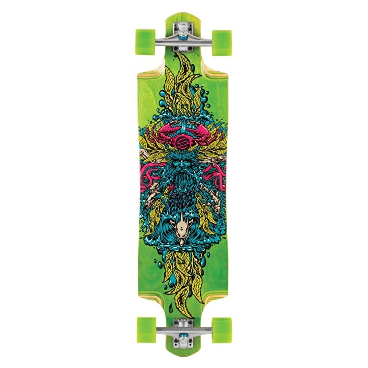 Santa Cruz Sea God Cruz Control Complete Longboard - Green - 38""