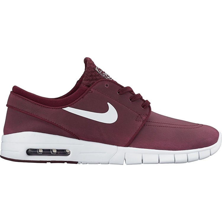B-Stock Nike SB Stefan Janoski Max L - Night Maroon/White UK 11 (Box Damage)