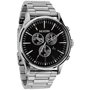 Nixon Sentry Chrono Watch - Black
