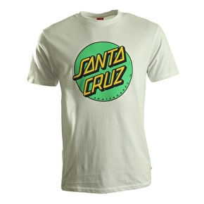 Santa Cruz T-Shirt - Coloured Dot White