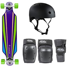 Atlantic Beginner Complete Longboard Bundle