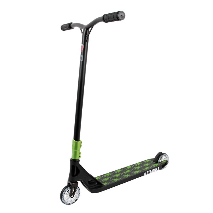 AO Steath 3 NLE Complete Scooter - Black/Green