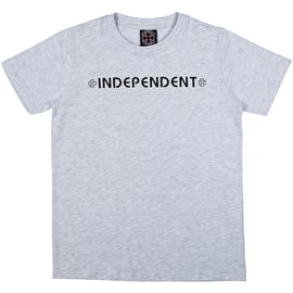 Independent Bar Cross Kids T Shirt - Athletic Heather