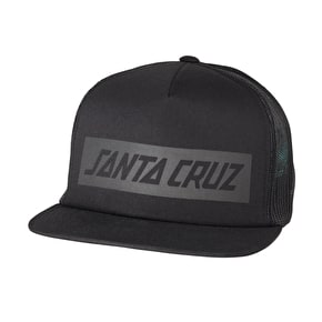Santa Cruz SCS Block Strip Trucker Cap - Black