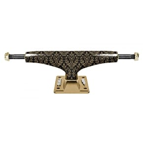 Thunder Hi 147 Hollow Lights Bronze Elites Skateboard Trucks - Black/Gold