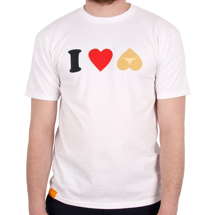 Enjoi I Heart Hearts T shirt - White