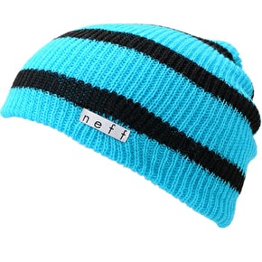 Neff Daily Stripe Beanie - Cyan / Black