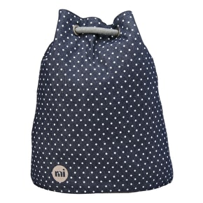 Mi-Pac Denim Spot Drawstring Swing Bag - Indigo/White