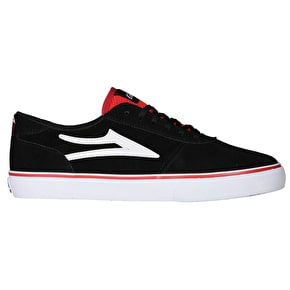 Lakai Manchester Skate Shoes - Black/Red Suede