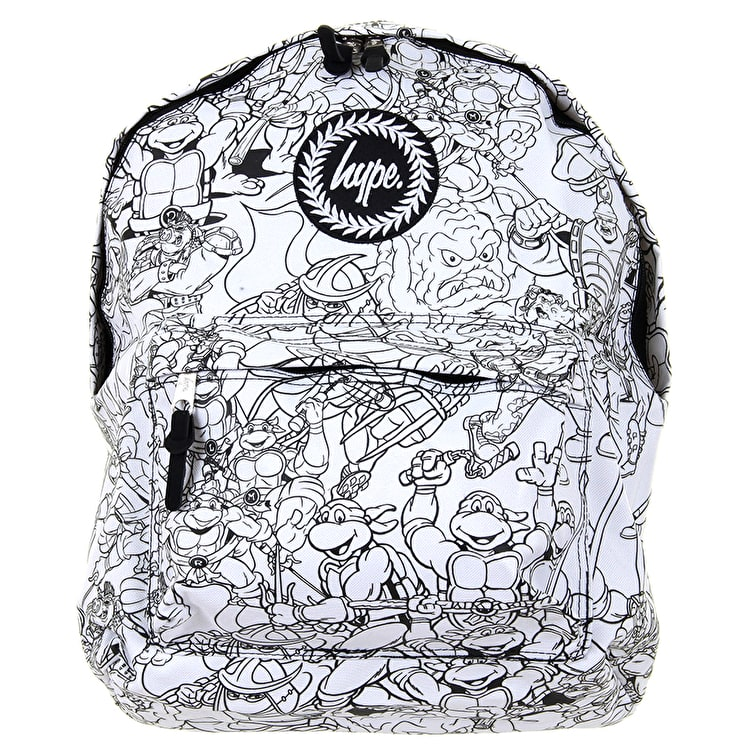 Hype X Turtles Line Art Backpack - White/Black