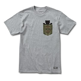Grizzly Forester Pocket T-Shirt - Heather Grey