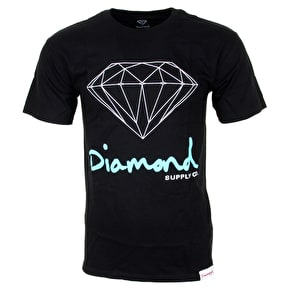 Diamond Sign Logo T-Shirt - Black