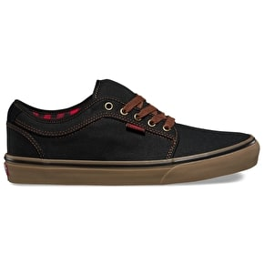 Vans Chukka Low Shoes - (Buffalo Plaid) Black/Gum