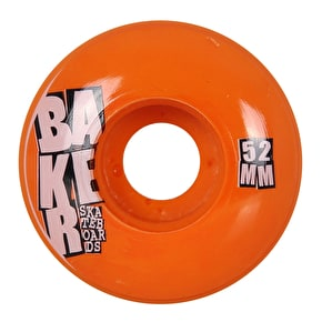 Baker Stacked 52mm Skateboard Wheels - Orange