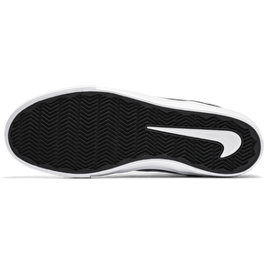 Nike SB Portmore II Solar Mid Skate Shoes - Black/White