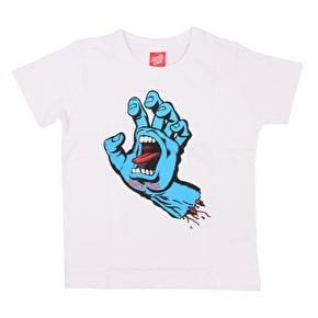 Santa Cruz Screaming Hand Kids T-Shirt - White