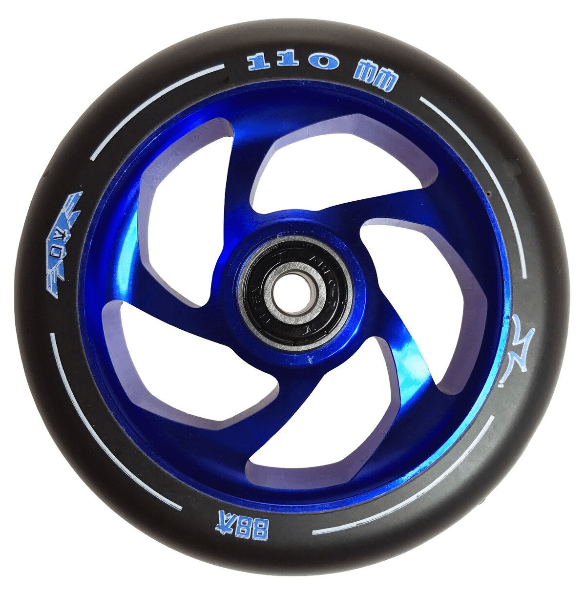 Image of AO Delta 110mm Wheel incl Bearings - Blue