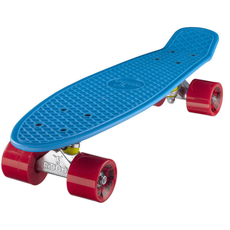 "Ridge 22"" Mini Retro Cruiser - Blue/Red"