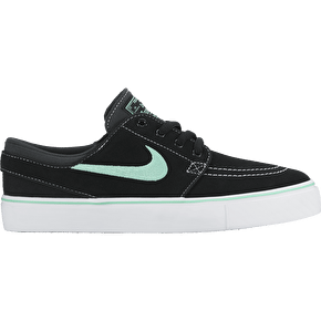 Nike SB Stefan Janoski Kids Skate Shoes - Black/Green Glow