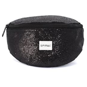 Spiral Harvard Black Glamour Bum Bag