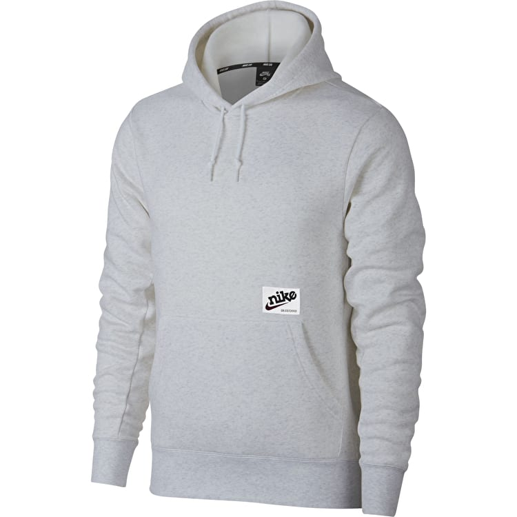 Nike SB Icon Hoodie - Birch Heather/Burgundy Crush