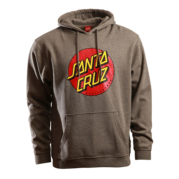 Santa Cruz Classic Dot Hoodie - Dark Heather