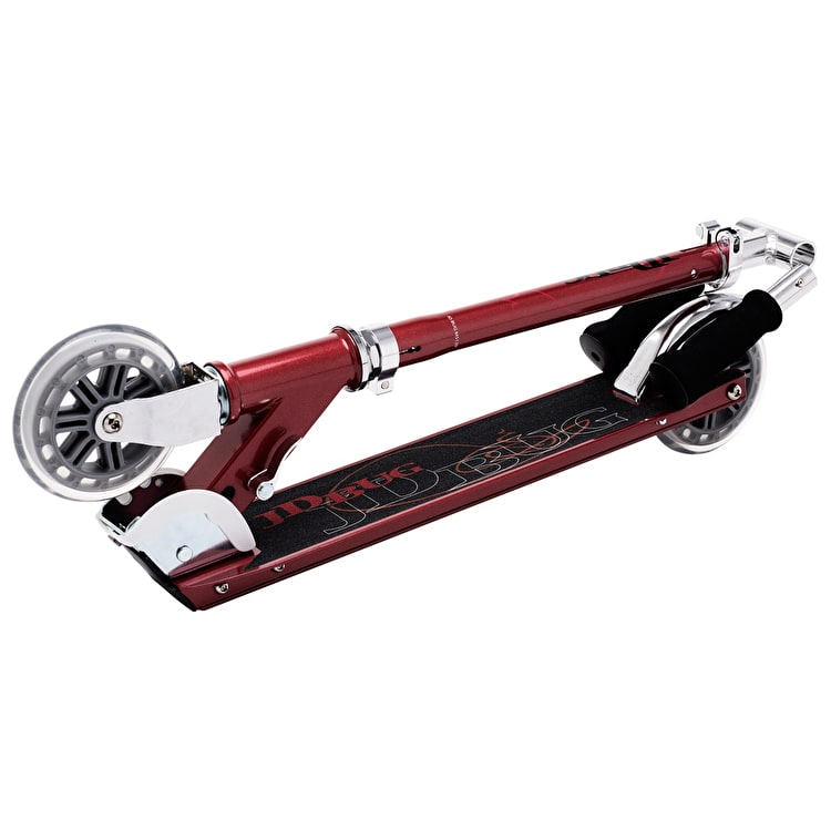 JD Bug Classic Street 120 Folding Scooter - Red Glow Pearl