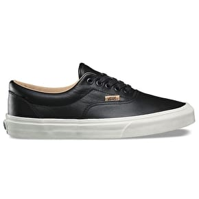 Vans Old Skool Skate Shoes - (Lux Leather) Black/Porcini