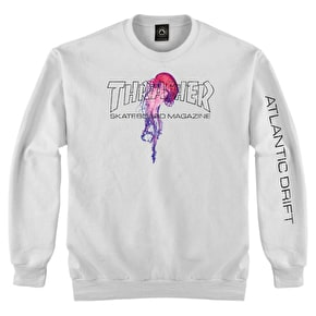 Thrasher x Atlantic Drift Crewneck - White
