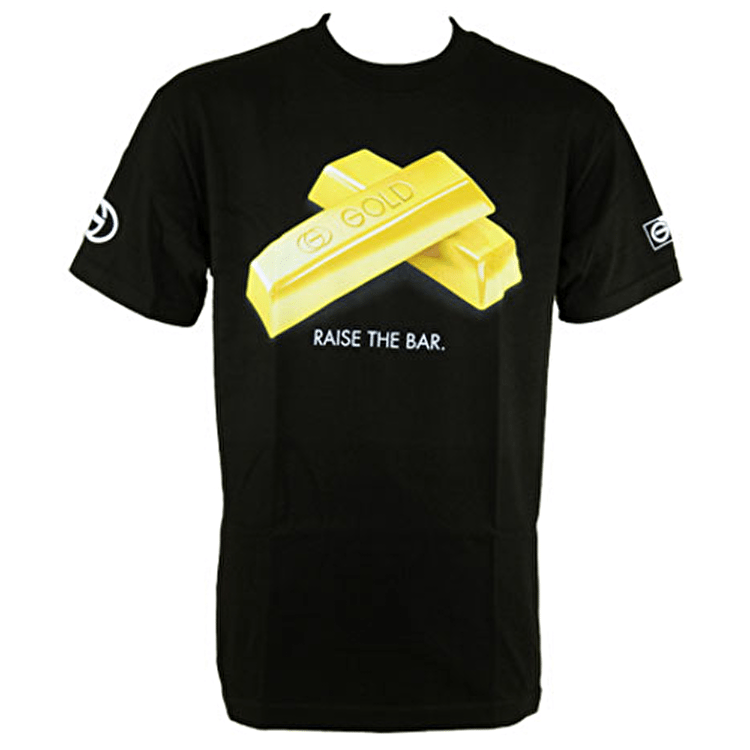 Gold Raise The Bar T-Shirt - Black