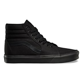 Vans Sk8-Hi Lite Shoes - (Canvas) Black/Black