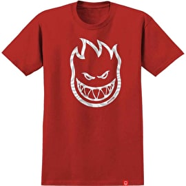 Spitfire Bighead Swirl Fill T Shirt - Red