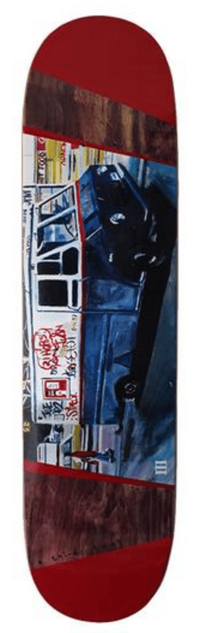 Image of A Third Foot Mean Streets Skateboard Deck - Ice Truck 8.25""