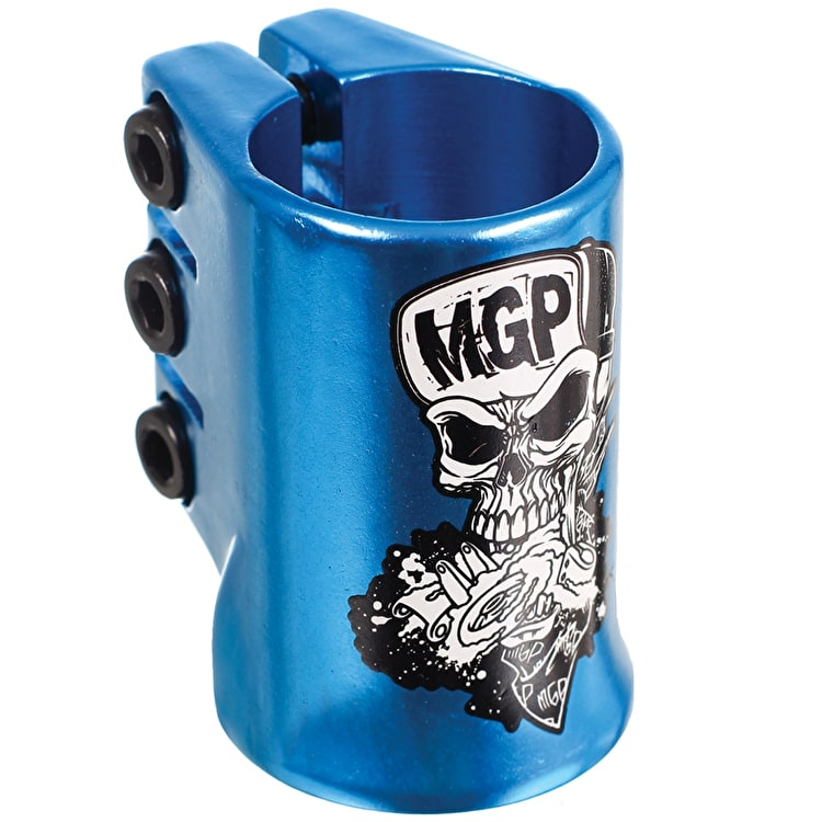 MGP Oversized Madd Hatter Triple Collar Clamp - Blue