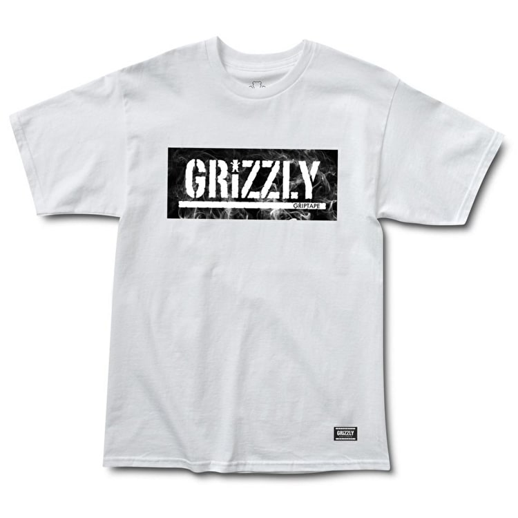 Grizzly Hot Box Logo Stamp T-Shirt - White