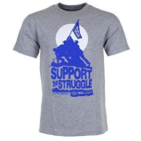 DGK Support The Struggle T-Shirt - Grey