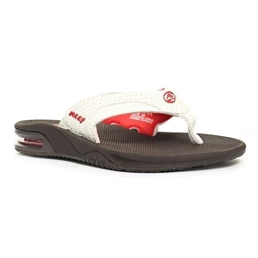 Reef Fanning Flip-Flops - Brown/White/Coral