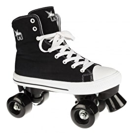 Rookie Canvas Quad Roller Skates - Black