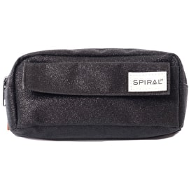 Spiral Pencil Case - Glitter Black