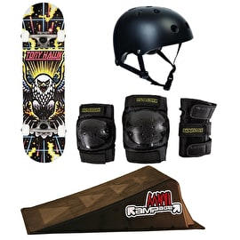 Tony Hawk 180 Skateboard/Mini Ramp Bundle