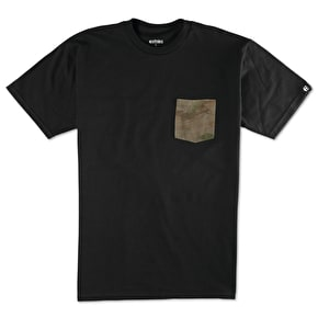 Etnies Flow Camo Pocket T-Shirt - Black