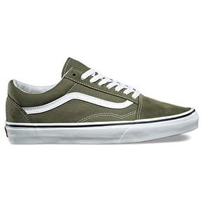 Vans Old Skool Skate Shoes - Winter Moss/True White