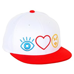 DGK Haters Symbols Cap - White/Red