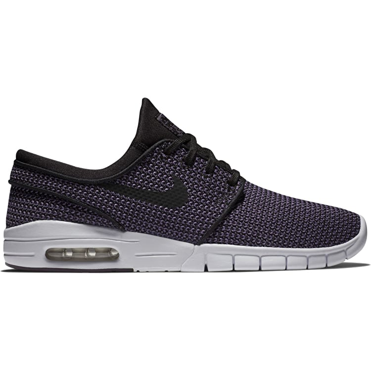 Nike SB Stefan Janoski Max Skate Shoes - Black/Black-Pro Purple-White