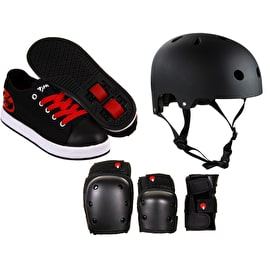 Heelys X2 Fresh - Black/Red Bundle