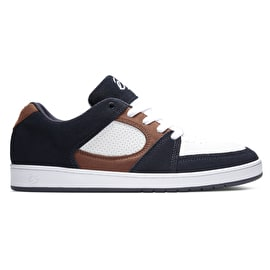 eS Accel Slim Skate Shoes - Navy/Tan/White